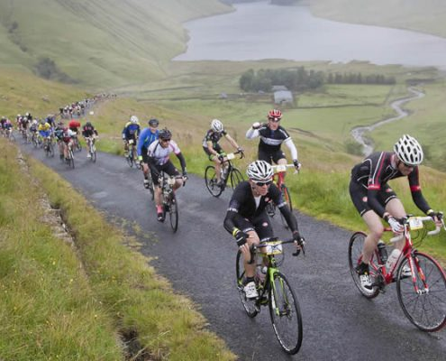 The Talla climb in the Scottish Borders during the Tour O The Borders