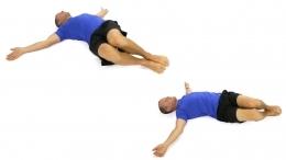 back pain, back pain exercises, log roll
