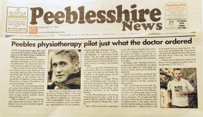 Peebles Physiotherapy, Peebleshire News, Phil Mack, Physiotherapy