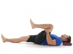 Back Pain exercise, single knee to chest, rehabilitation, prehab, stability, flexibility