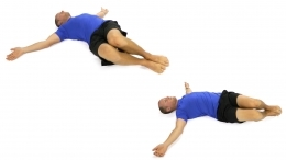 back pain, back pain exercises, log roll, rehabilitation, prehab, flexibility, core strength, stability