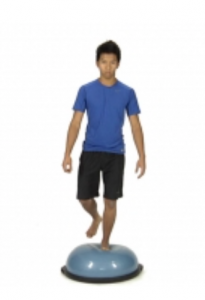 bosu ball balance, knee pain, stability exercises