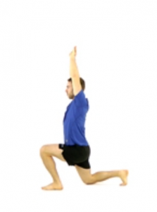 Overhead Lunge, knee pain, runners knee