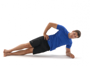 side plank, back pain